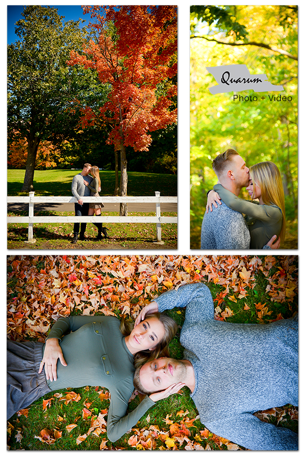 Toronto engagement fall colours Quarum Photo Video