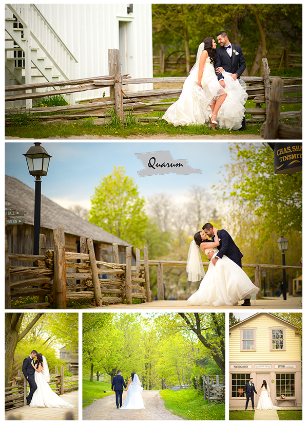 Quarum Wedding Toronto Pioneer Village Rustic Bride and Groom  Mark Piotrowski