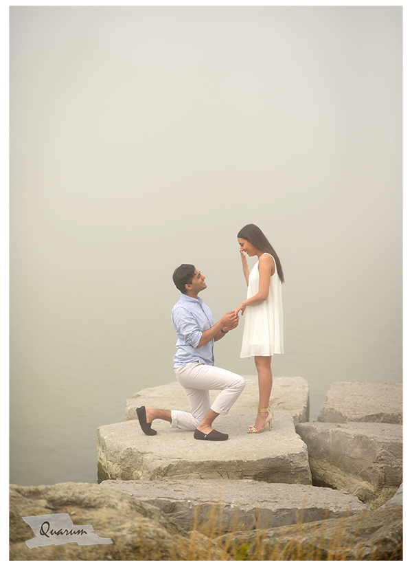Waterfront Proposal wedding engagement Quarum Photo Video Best studio Ontario