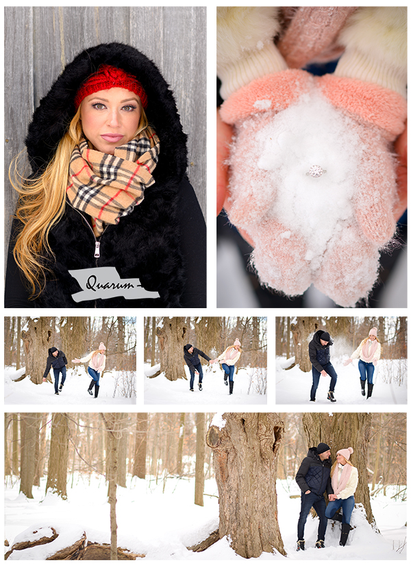 winter engagement shoots  Toronto Quarum Photo Video