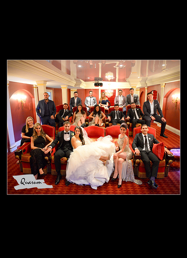 custom home theater Quarum Toronto weddings photo video