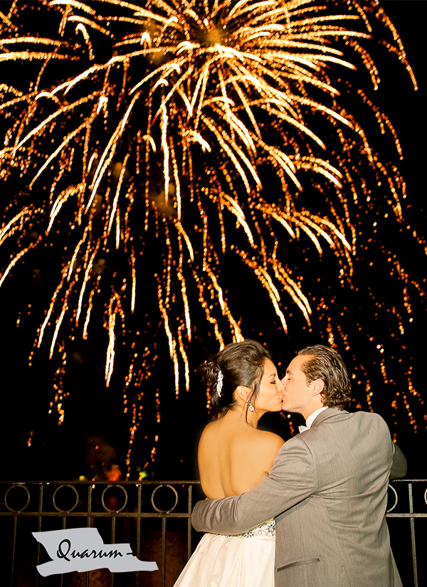 Quarum photo video Toronto wedding fireworks