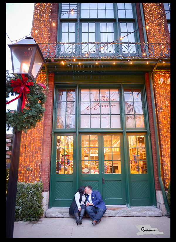 Distillery Christmas market toronto Quarum photo video luxury weddings engagement