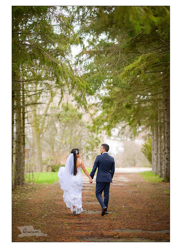 pine trees weddings, forest wedding shoot, quarum photo video, toronto luxury weddings