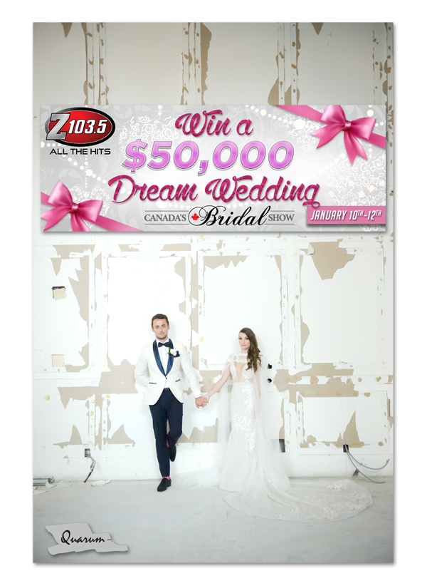 Canadas bridal show, wedding giveaway 50k, toronto best wedding studio, mark piotrowski, z103.5 radio, best wedding show canada