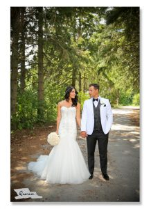 Toronto weddings, Quarum photo video, groom in white jacket, white suit, valentines day