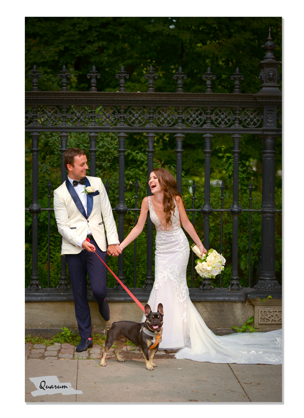 toronto weddings, luxury weddings Quarum photo video, puppy love weddings, furry friends weddings