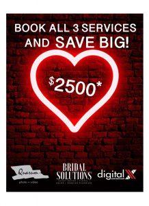 Quarum photo video promo, save $2500 on wedding, luxury weddings, toronto wedding photographer,