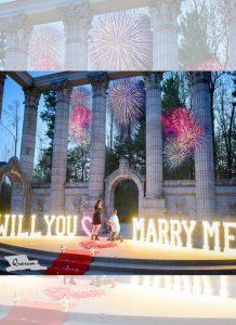 Fireworks proposal video, surprise proposal shoot, luxury weddings, quarum photo video toronto, mark piotrowski